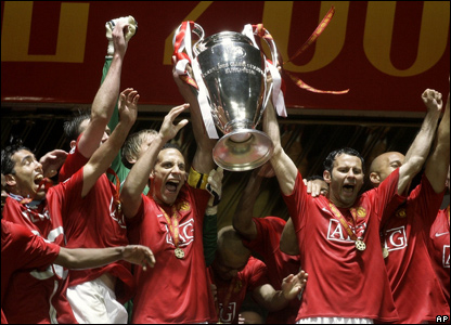 Manchester United with trophy