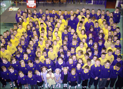 Pupils at Sunnyside Primary School in Glasgow
