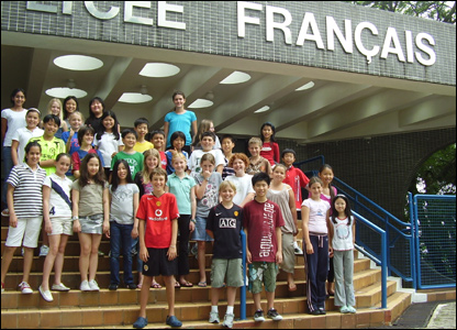 Year 6 children at the French International School of Hong Kong