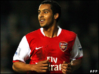 Theo Walcott of Arsenal
