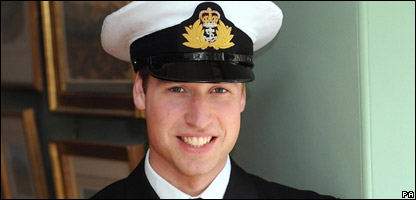Prince William in his naval uniform