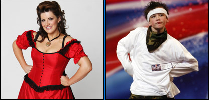 Jodie Prenger and George Sampson