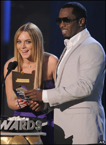 Lindsay Lohan, left, and Sean 'Diddy' Combs