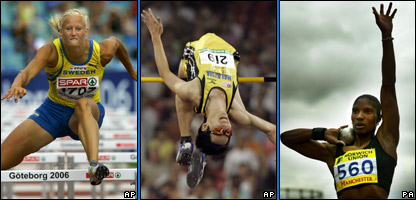 Hurdles, high jump and shot putt