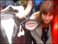 Helen and a cow!