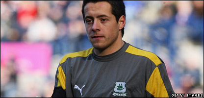 Plymouth Argyle goalie Luke McCormick