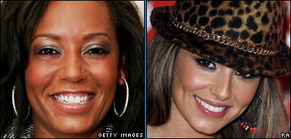 Mel B and Cheryl Cole