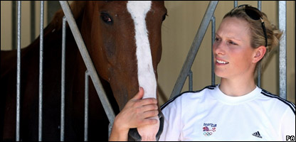 Zara Phillips and her horse Toytown
