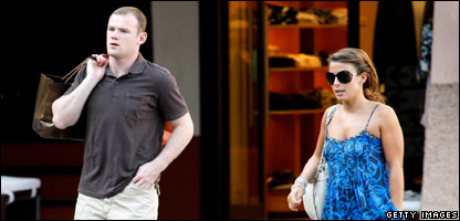 Wayne Rooney and Coleen McLoughlin in Italy