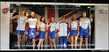 Team GB modelling their new Olympic kit