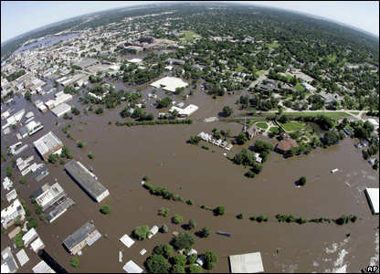 Floodwaters in Cedar Rapids, Iowa