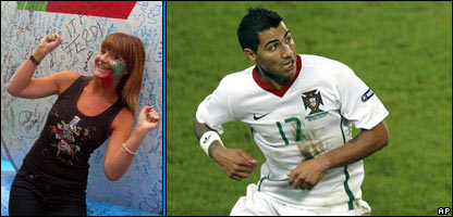 Helen and Portugal's Ricardo Quaresma