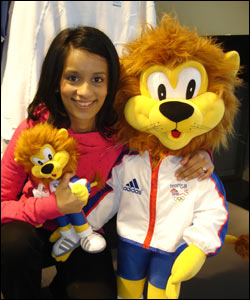 Sonali met the mascot too!
