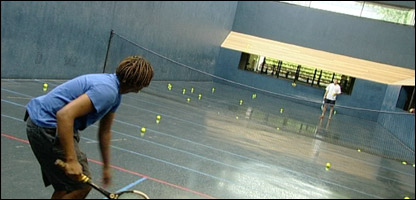 Gavin tries out Real Tennis