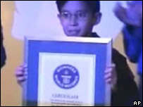 Jules with his Guinness World Record certificate