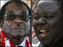 President Robert Mugabe and Morgan Tsvangirai