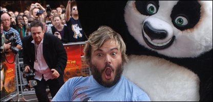 Jack Black at the premiere