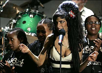 Amy Winehouse sang Free Nelson Mandela, a famous song written about him when he was in prision.