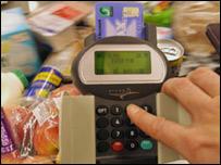 英國超市購買食品付款