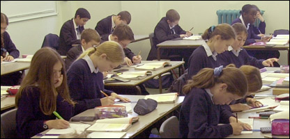 Pupils taking tests