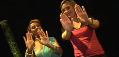 Laura learning Bollywood dancing