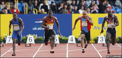 Dwain Chambers, second from left