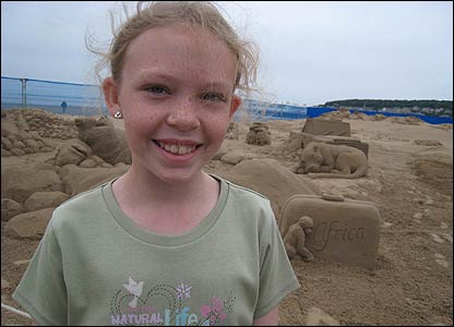 Sophie said the exhibition was really good and her favourite sand sculpture was the lion.