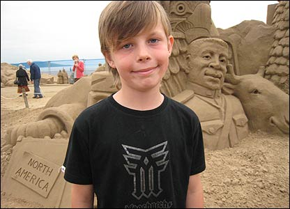"Joe loved the sculptures. He told Newsround: ""They're absolutely amazing. I've entered a (similar) comptition before and won first place. I thought we were absolutely amazing until we came here!"""
