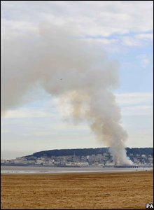 Fire at Weston-super-Mare pier