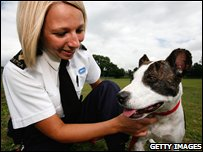 Saffron with RSPCA inspector