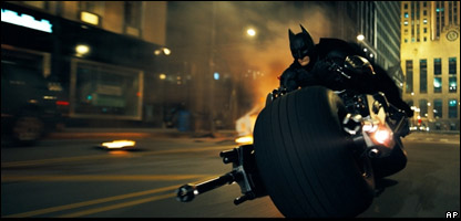 Christian Bale as Batman in The Dark Knight