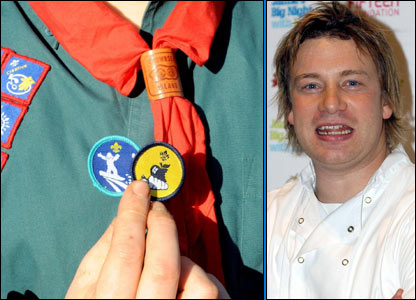 Badge and Jamie Oliver