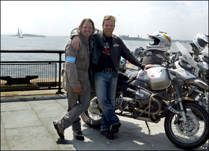 Ewan McGregor (right) and Charley Boorman