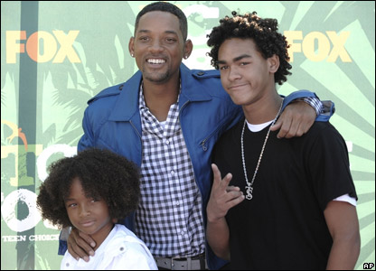 Will Smith with his sons Trey (left) and Jaden