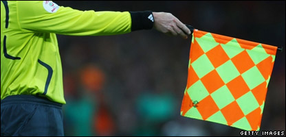 A referee's flag