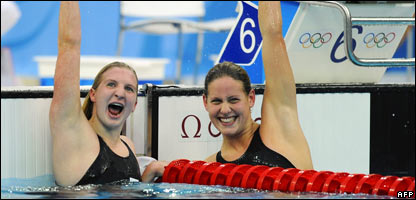 Rebecca Adlington (left) and Joanne Jackson