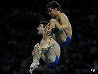 Tom Daley and Blake Aldridge diving