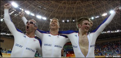 Chris Hoy, Jason Kenny and Jamie Staff