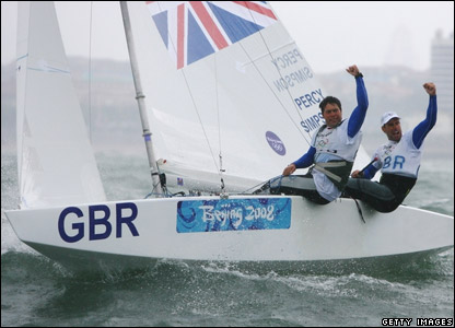 British sailors Iain Percy and Andrew Simpson