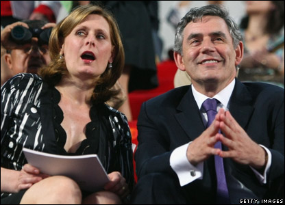 British Prime Minister Gordon Brown and his wife Sarah