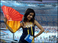 Sonali at the closing ceremony