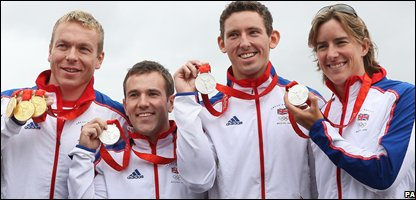 Scottish medallists (left to right) Chris Hoy, Ross Edgar, David Florence and Katherine Grainger