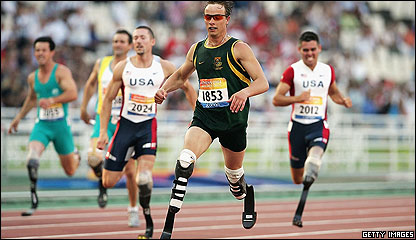 Athlete Oscar Pistorious in the 2004 Paralympics