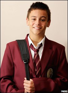 Tom Daley goes back to school