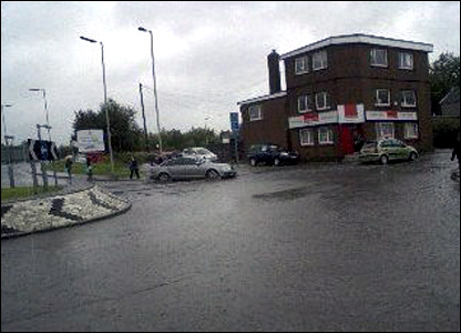 Floods in Aberdare, south Wales