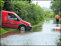 Floods in Gloucestershire made delivering post difficult