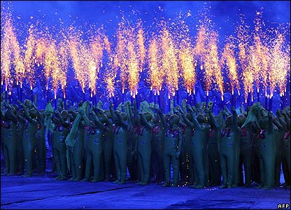 The Opening Ceremony of the Paralympics in Beijing, China