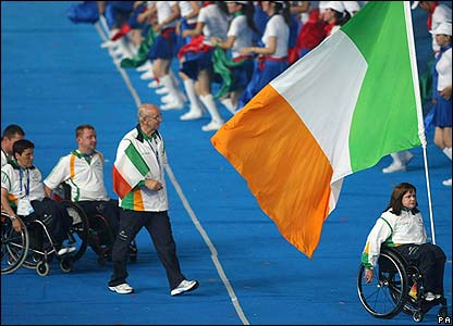 The Irish Paralympic team