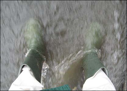 Tom's wellies in Northumberland