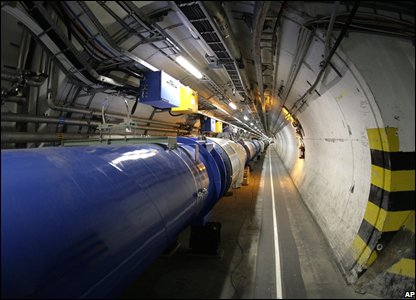 the LHC (large hadron collider) in its tunnel